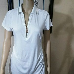 Michael Kors, white cotton top